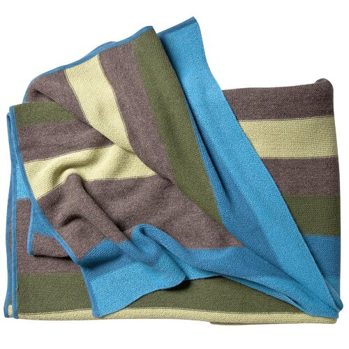 Koko Company Alpaca Wool Multi Stripe Throw