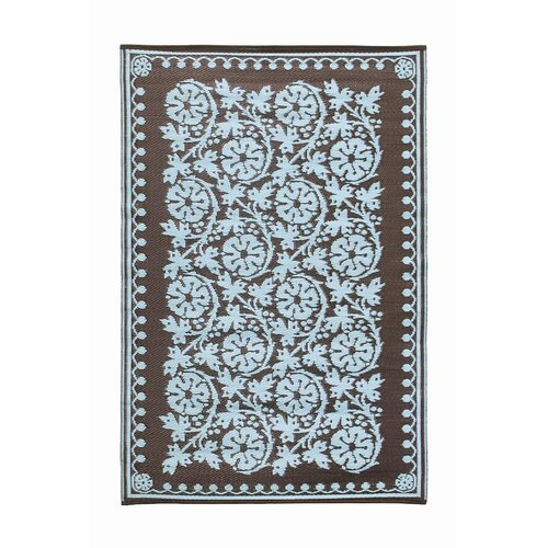 Cinquefoil Ice Coffee Outdoor Rug