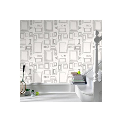 Graham & Brown Label Frames Geometric Wallpaper