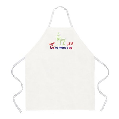 Attitude Aprons by L.A. Imprints Age Gets Better with Wine Apron
