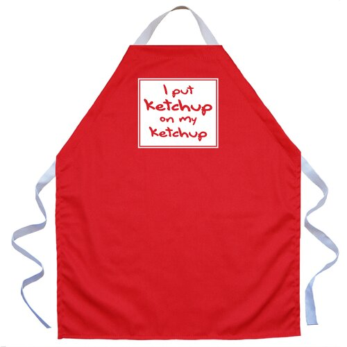 Ketchup on my Ketchup Apron in Red