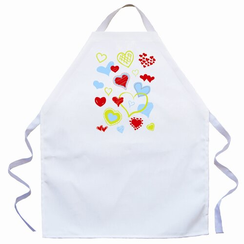 Hearts Apron in Natural