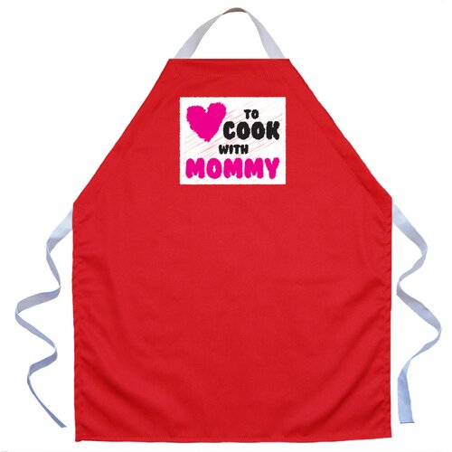 Cook with Mommy Apron in Red