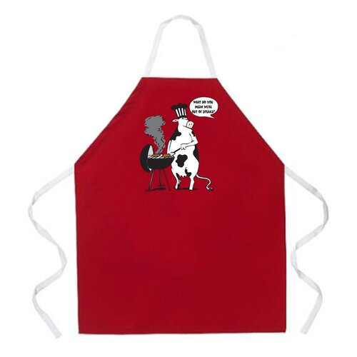 Attitude Aprons by L.A. Imprints Cow BBQ Apron