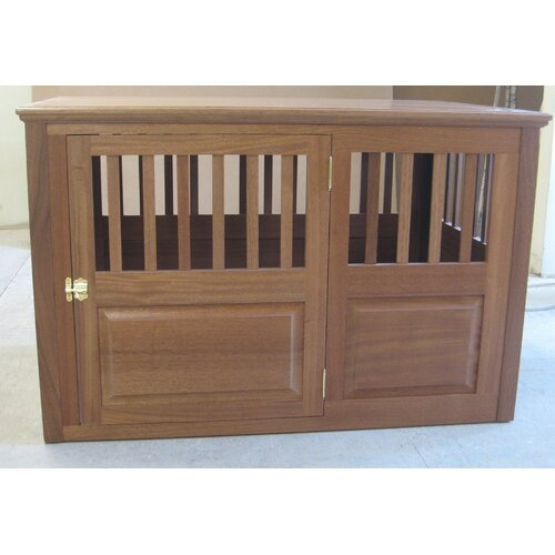 solid wood pet crate wayfair