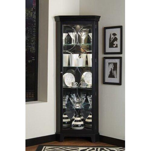 Pulaski Furniture Oxford Black Corner Curio Cabinet