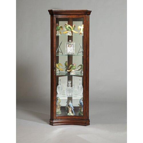 Concave Corner Curio Cabinet