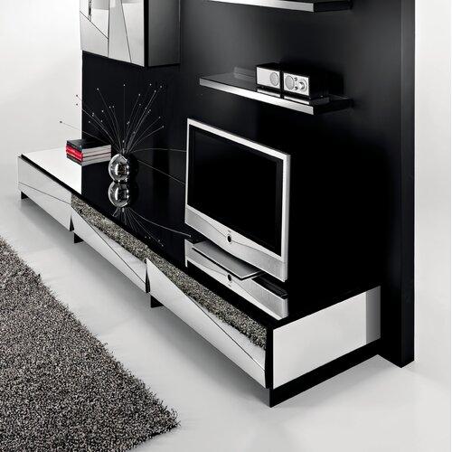 Urbane Designs Psiche TV Stand with Glass Top