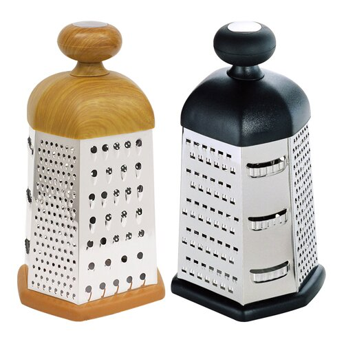 6 Sided with Knob Cheese Grater