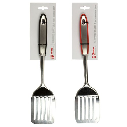 Rubber Grip Slotted Spatula
