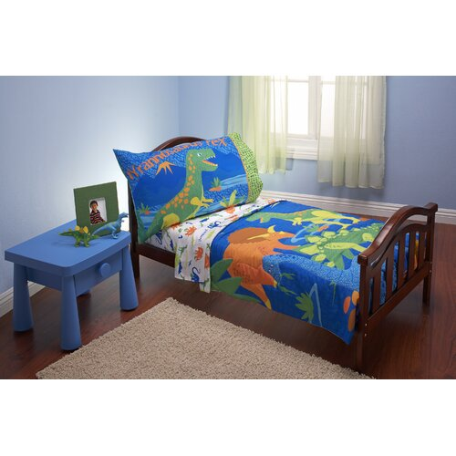 piece dinosaurs toddler bedding set