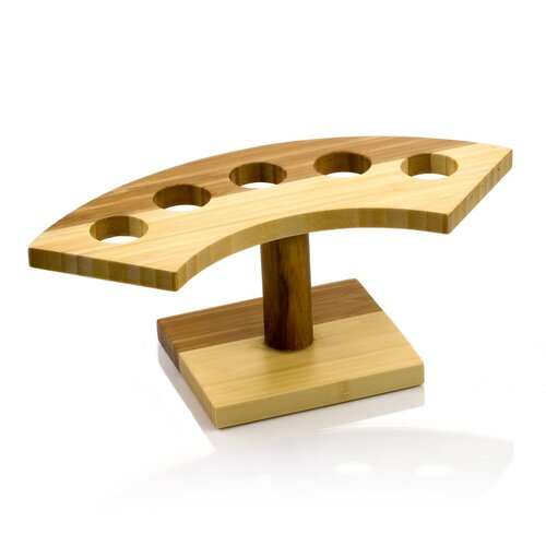 Crescent 5-Slot Bamboo Cone Stand