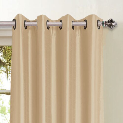 Window elements ymc001 jane faux silk grommet curtain for Online curtains and drapes