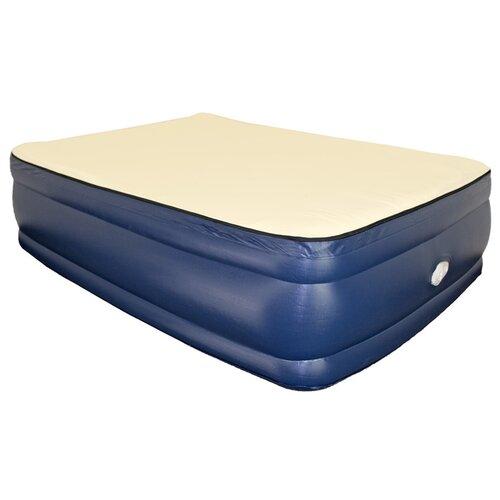 "Airtek Foundation 22"" Raised Memory Foam Air Mattress with"
