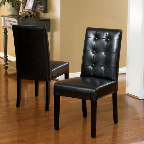 Christopher Knight Home Roland Leather Dining Chairs