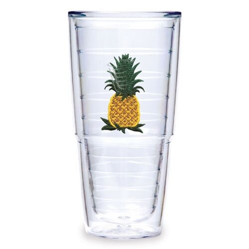Garden Splendor Pineapple 24 oz. Big-T Insulated Tumbler (Set of 2)