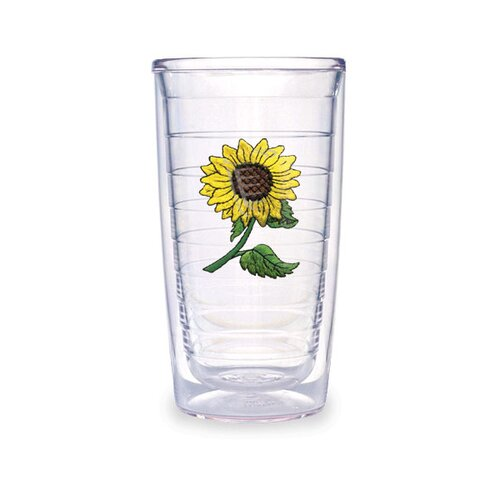 Flowers Sunflower 16 oz. Insulated Tumbler (Set of 4)