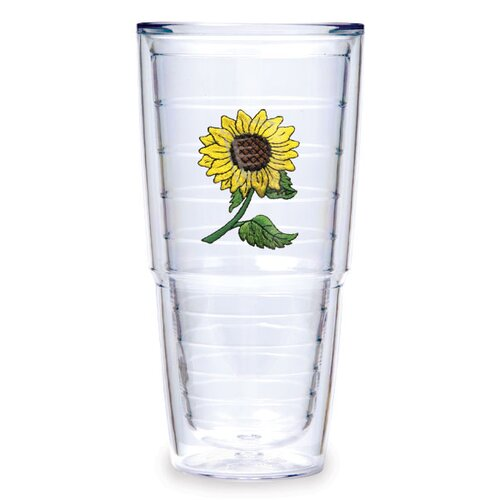 Flowers Sunflower 24 oz. Insulated Tumbler (Set of 2)