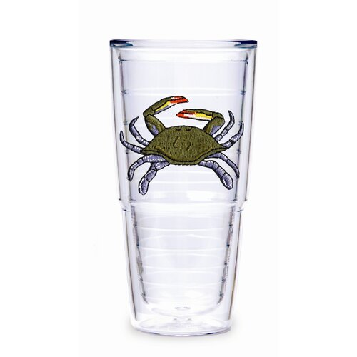 Tervis Tumbler Tropical and Coastal Crab 24 oz. Big-T Insulated Tumbler