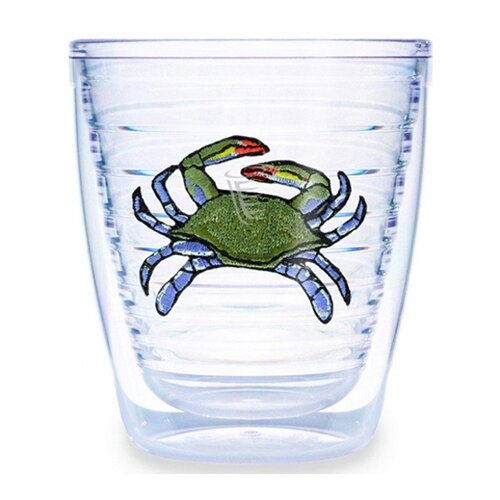 Tropical and Coastal Crab 12 oz. Insulated Tumbler (Set of 4)