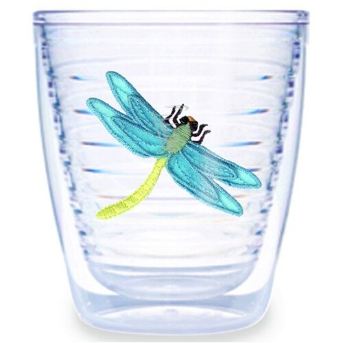 Garden Splendor Dragonflies 12 oz. Insulated Tumbler (Set of 4)