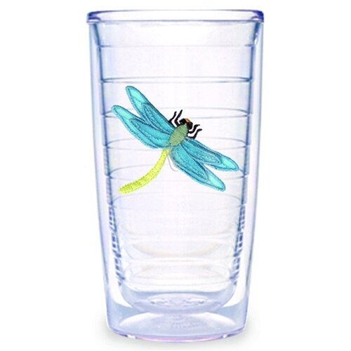 Garden Splendor Dragonflies 16 oz. Insulated Tumbler (Set of 4)