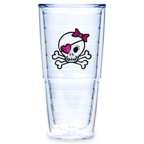 Just for Fun Girl Skull and Crossbones 24 oz. Big-T Insulated Tumbler (Set of 2) ...