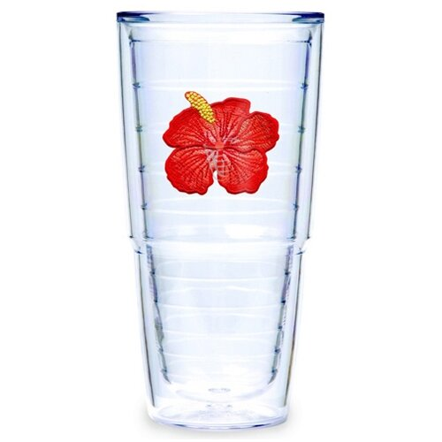 Garden Splendor Hibiscus 24 oz. Big-T Insulated Tumbler (Set of 2)