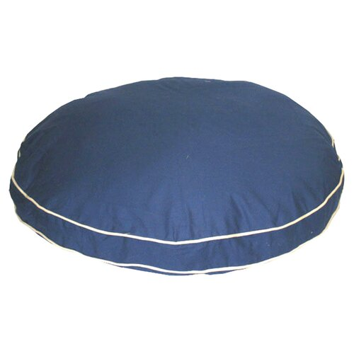 Zoey Tails Twill Classic Round Dog Pillow