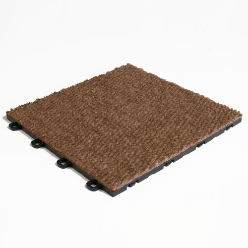 Interlocking Carpet Basement Floor Tile In Brown Reviews Wayfair