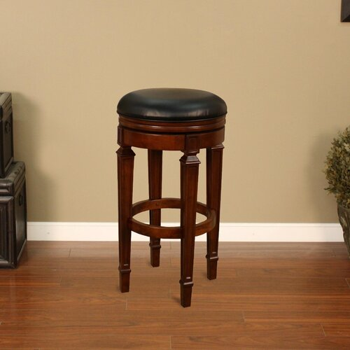 "American Heritage 31"" Swivel Bar Stool with Cushion"