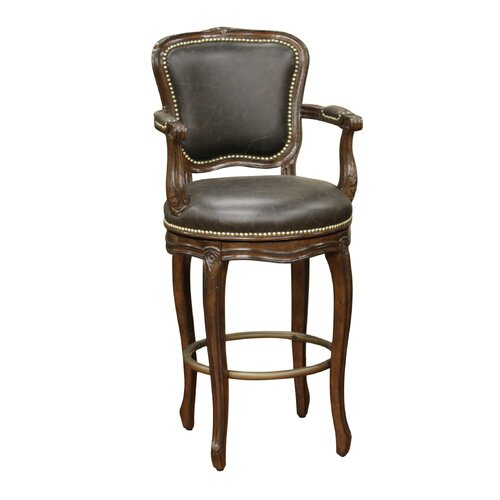 "American Heritage Salvatore 26"" Swivel Bar Stool with Cushion"