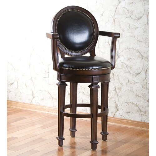 "American Heritage 30"" Swivel Bar Stool with Cushion"