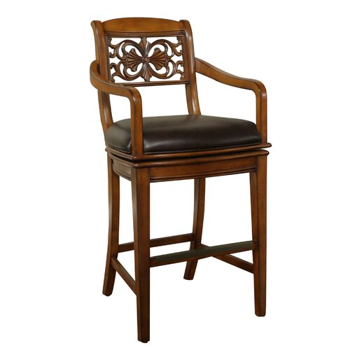 American Heritage Francisco Swivel Bar Stool with Cushion