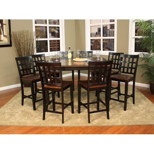 American Heritage Rosetta 9 Piece Counter Height Pub Set