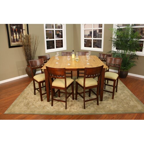 American Heritage Andria 9 Piece Counter Height Pub Set