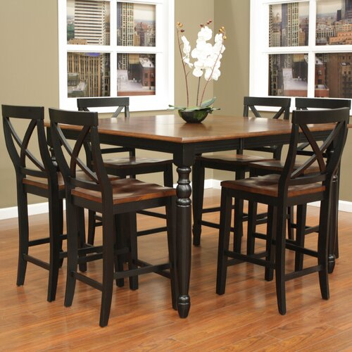 rustic counter height dining table set images