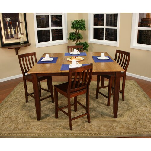 American Heritage Andria 5 Piece Counter Height Pub Set