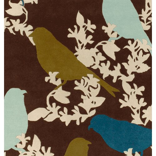 Thomas Paul Tufted Pile Chocolate/Aqua Goldfinch Rug