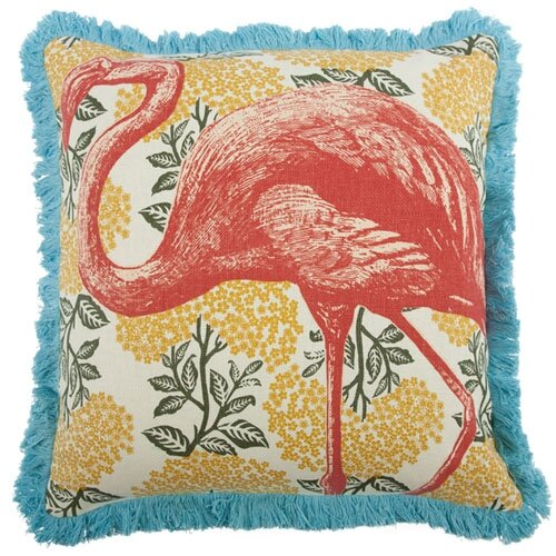 "Thomas Paul 18"" Flamingo Pillow"