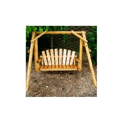 Moon Valley Rustic Nicholas Child Porch Swing with Stand