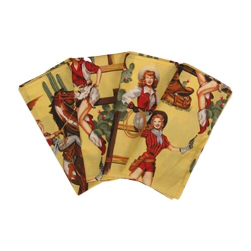 Sassy Cook'n Western Lolitas Napkin with Hem (Set of 4)