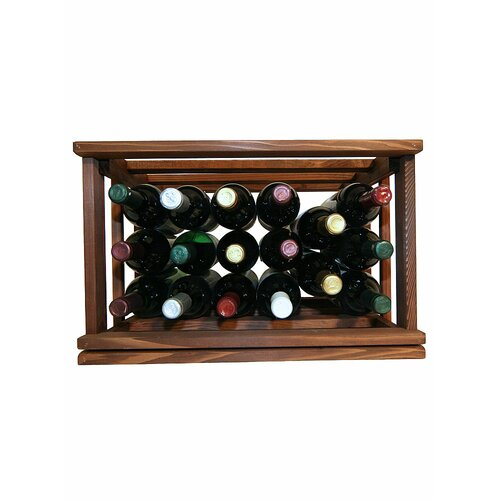 Mini Stack Series 17 Bottle Tabletop Wine Rack