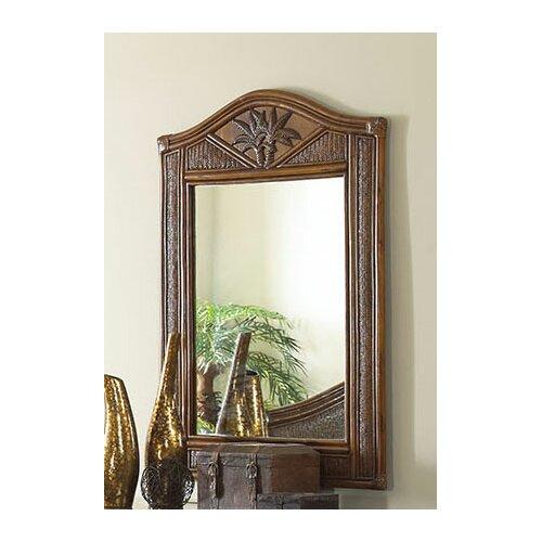 Hospitality Rattan Cancun Palm Mirror