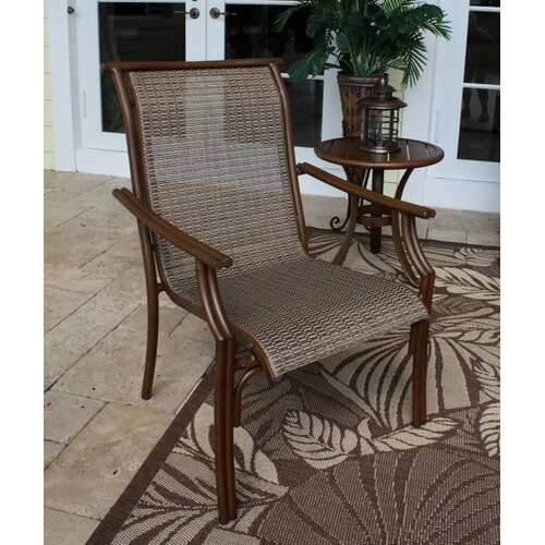 Hospitality Rattan Chub Cay Stacking Dining Arm Chair
