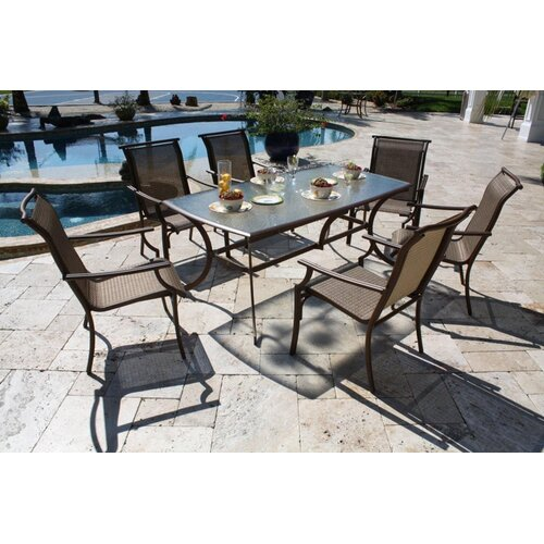 Hospitality Rattan Chub Cay Patio 7 Piece Dining Set