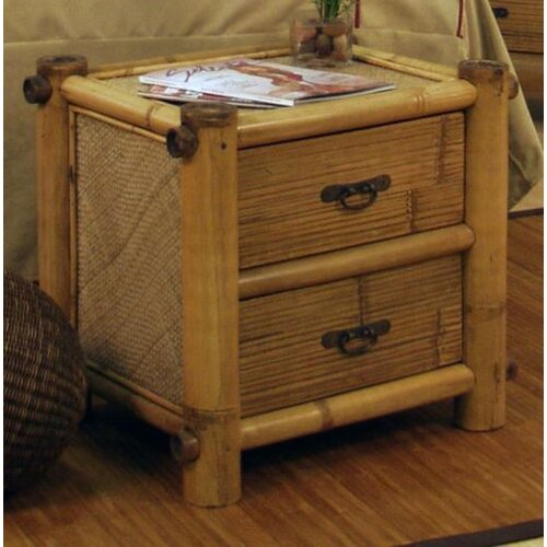 Hospitality Rattan Hawaii Bamboo 2 Drawer Nightstand