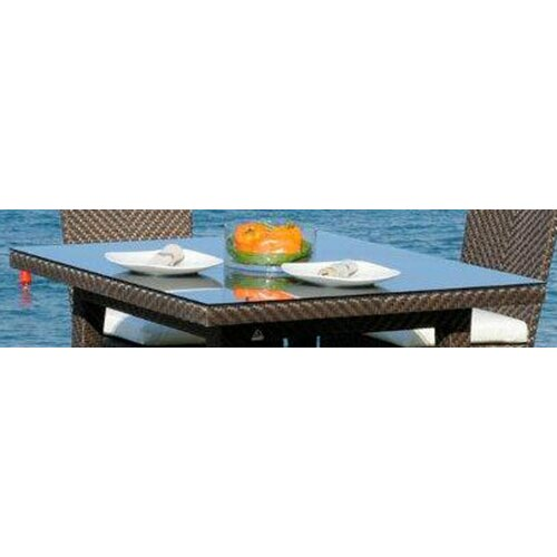 Hospitality Rattan Soho Patio Woven Square Dining Table Top