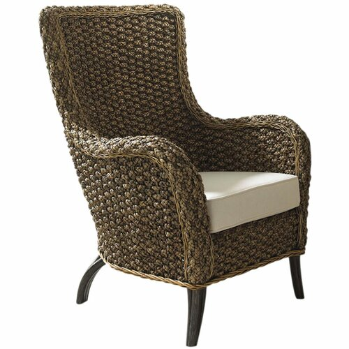 Hospitality Rattan Cozmel Full Frame Lounge Chair with Cushion