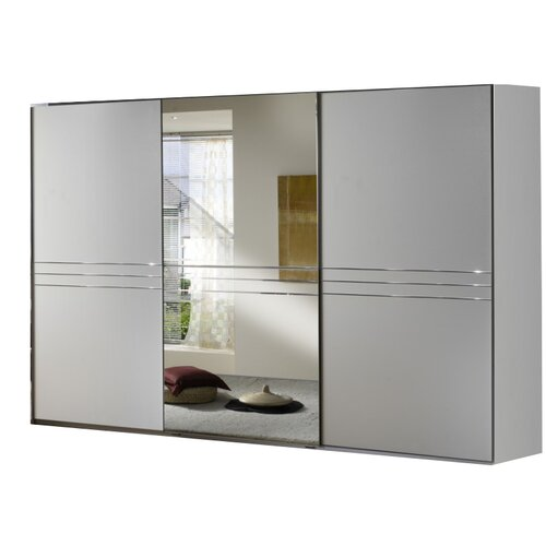 All Home Kruger 3 Door Sliding 1 Mirror Wardrobe